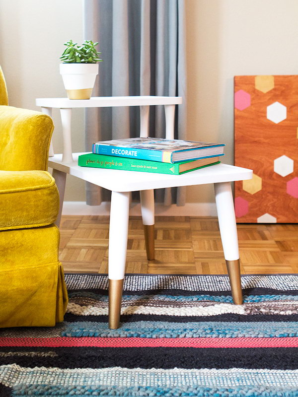 8 DIY Gold Dipped Side Table