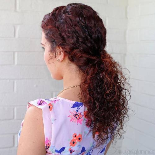 8 low ponytail for curly hair