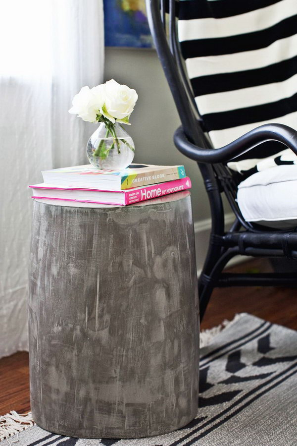 9 Lightweight Cement Side Table