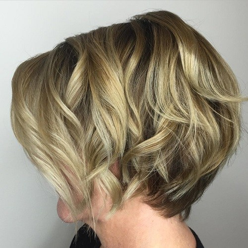 9 short layered blonde balayage bob
