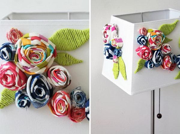 1 Blooming Fabric Lampshade