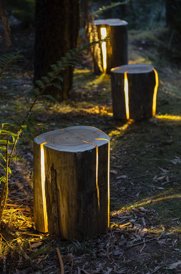 1 Cracked Log Lamps
