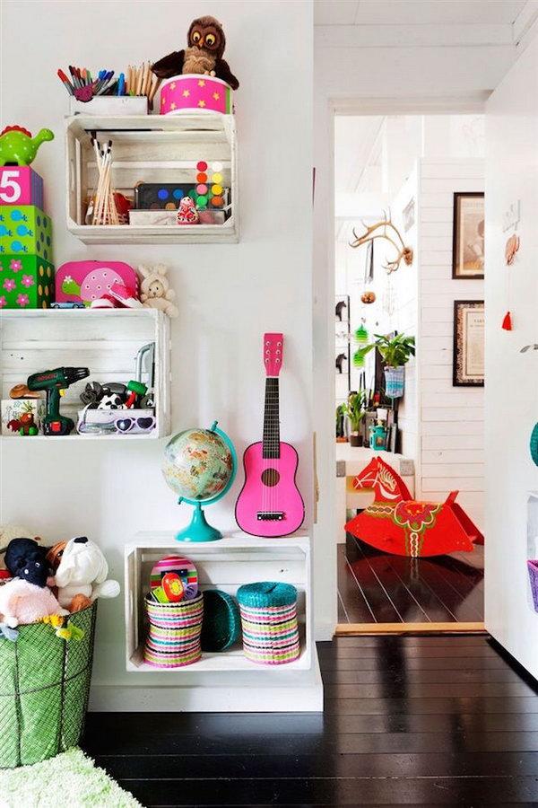25 Creative Diy Storage Ideas To Organize Kids Room Foliver Blog