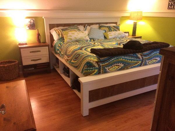 1 DIY Farmhouse Bed Frame