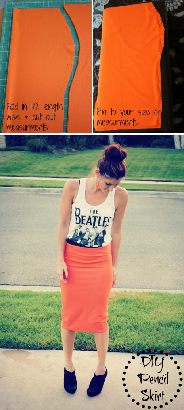 1 DIY Fitted Pencil Skirt