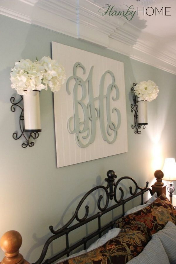 1 DIY Monogram Wall Art