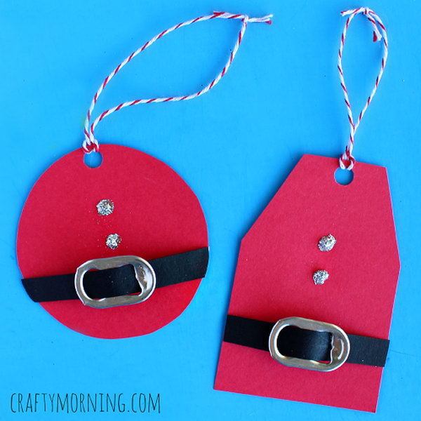1 DIY Santa Gift Tags Using Soda Can Tabs