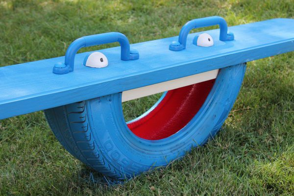 1 Tire Totter for Kids