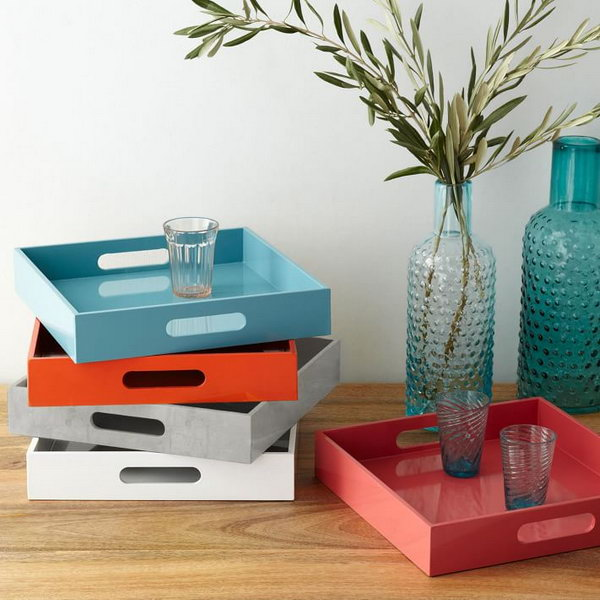 1 West Elm Knock Off Lacquer Trays
