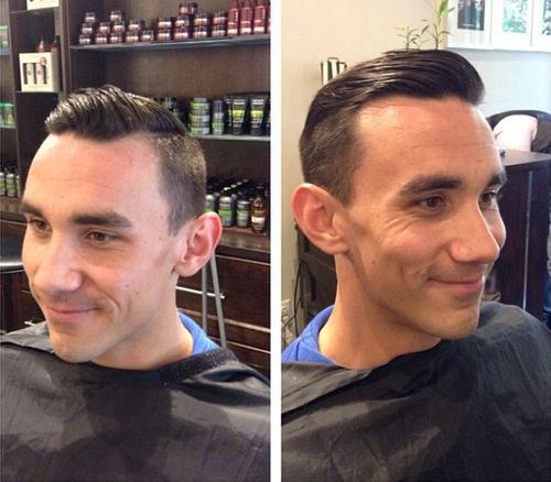 1 combed back hairstyle for balding men