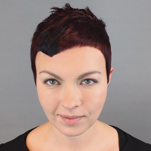 1 extra short asymmetrical pixie