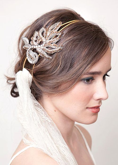 1 loose updo with a fancy headband