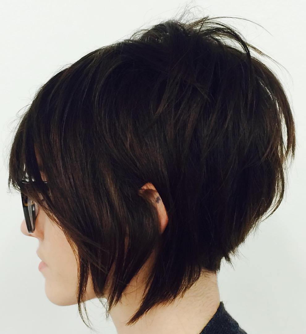 1 short shaggy bob haircut