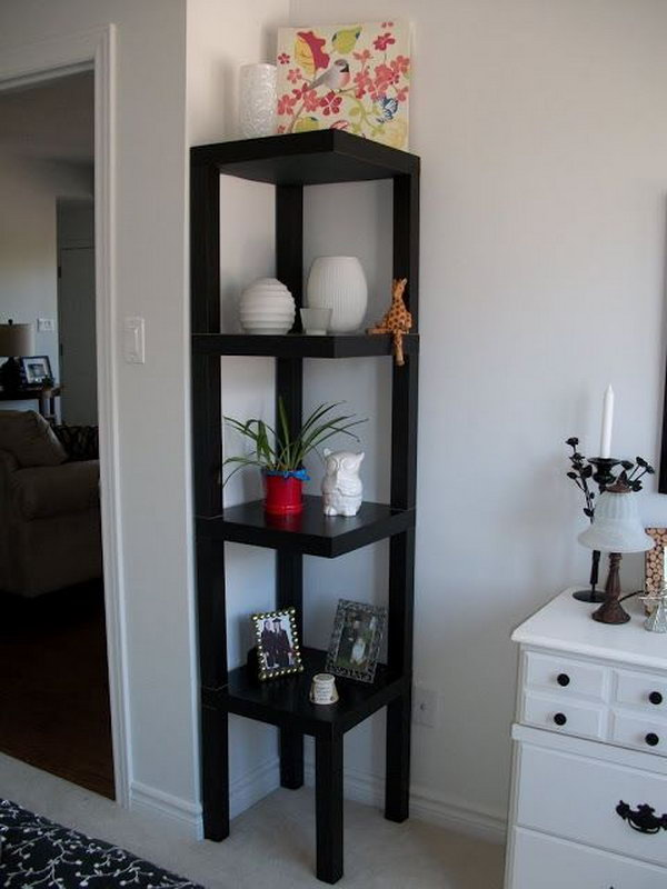 10 DIY Corner Shelf Made from Ikea Lack Table