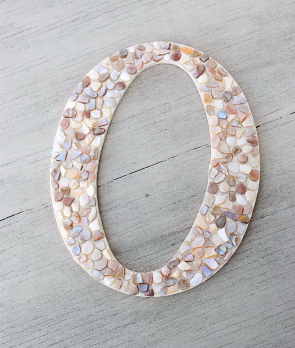 10 Mosaic Letter Wall Decor