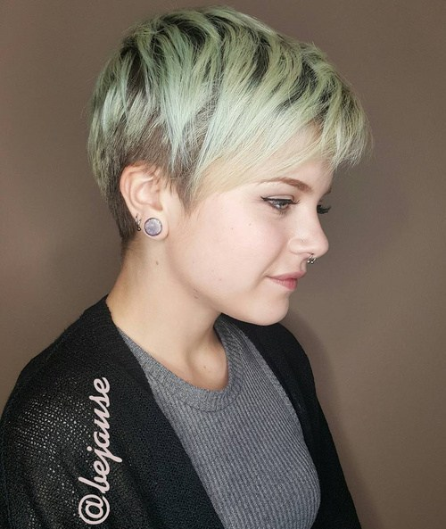 10 brown and blonde pixie