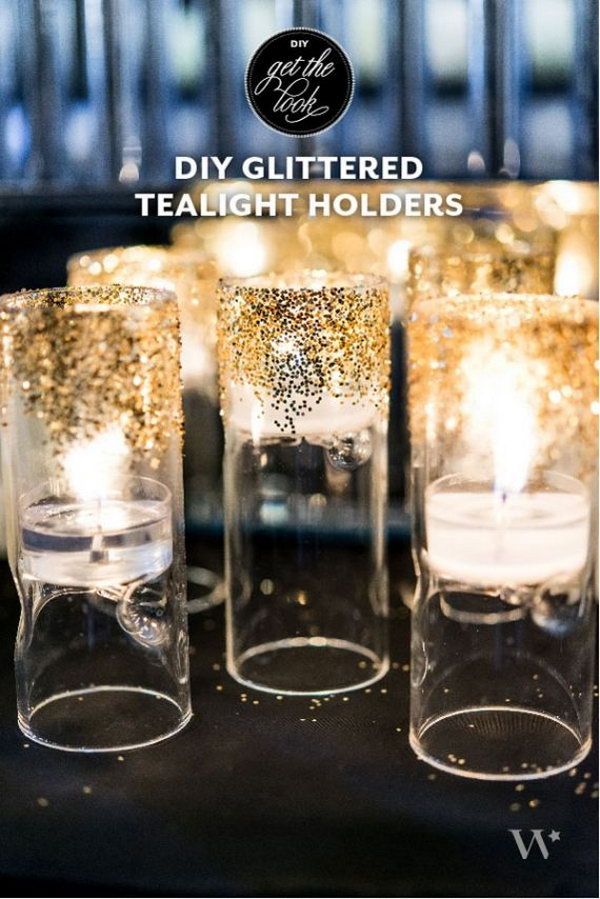 11 DIY Glitter Starry Night Candles