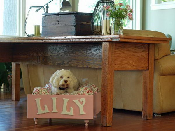 11 Turn An Old Dresser Drawer Into A Pet Bed