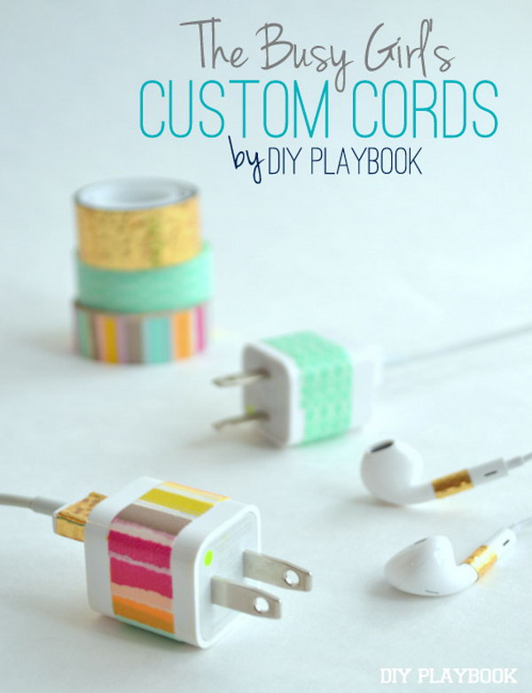 11 Washi Tape Phone Chargers