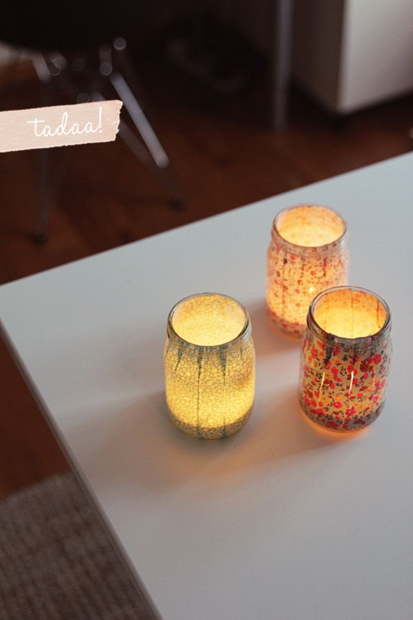 12 Sweet DIY Votives to Create a Dreamy and Romantic Dorm Room