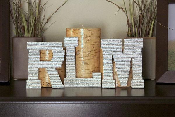 13 DIY Book Letter Monograms