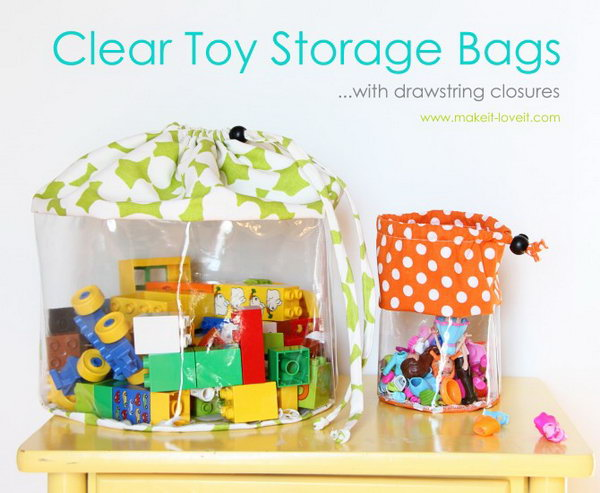 13 DIY Clear Toy Storage Bags