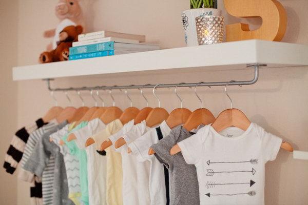 13 DIY Nursery Shelf for More Storage