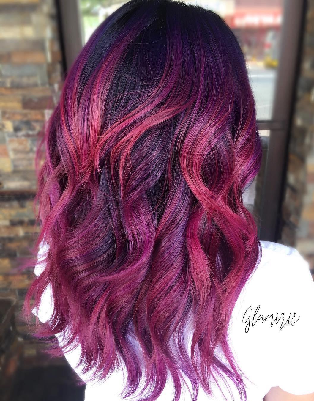 13 burgundy balayage for black hair