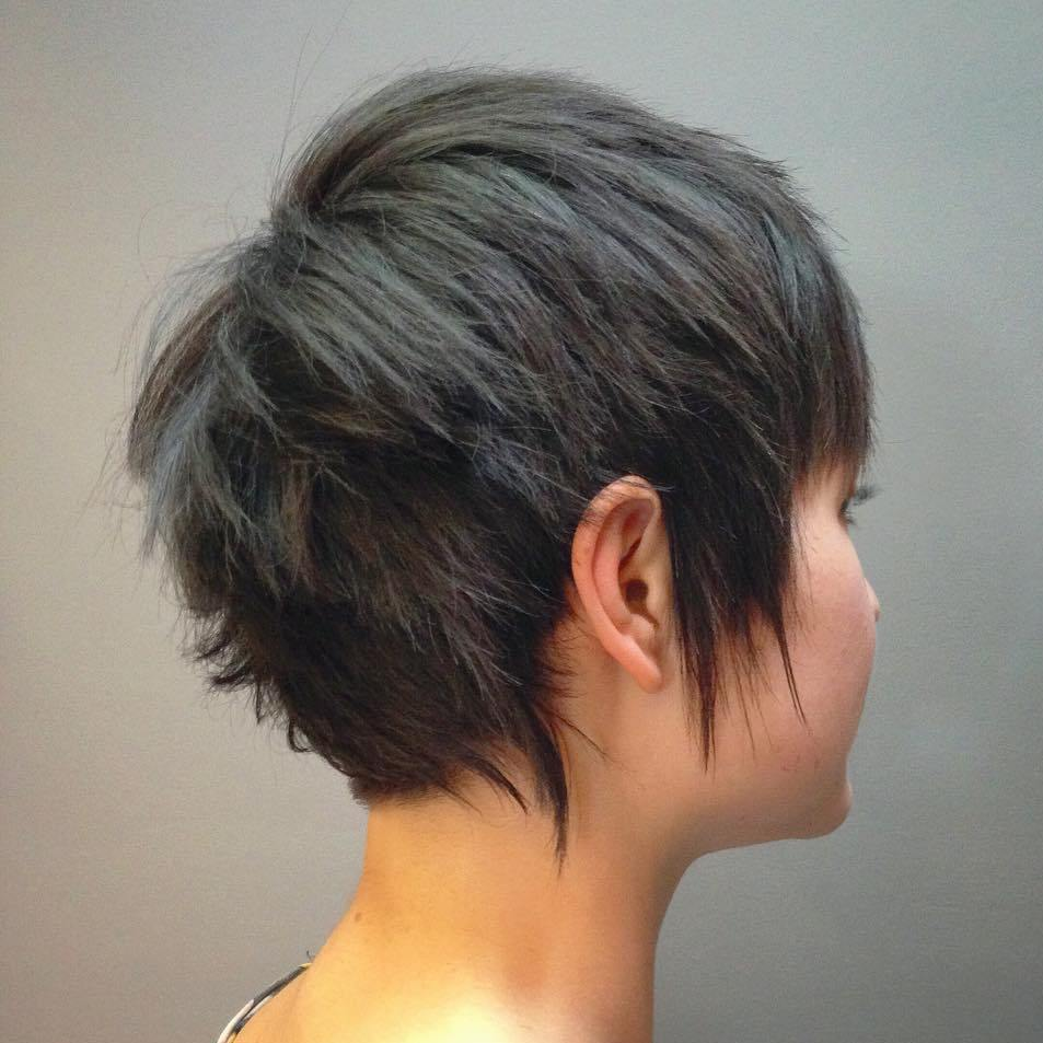 13 choppy ash brown pixie