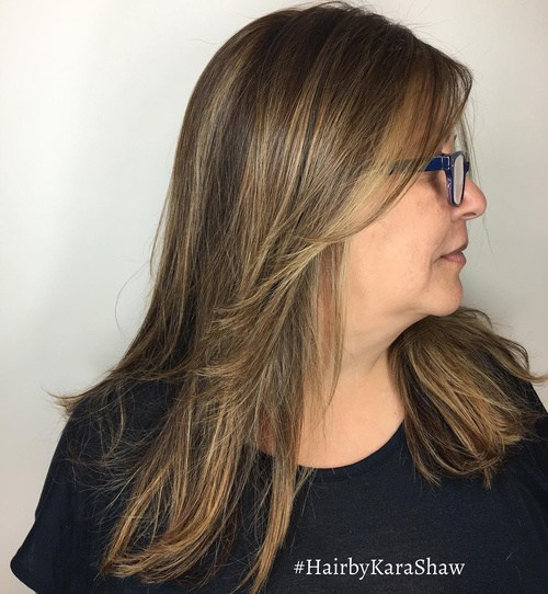 13 medium brown blonde layered hairstyle