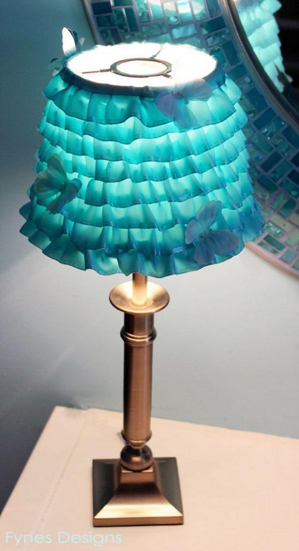 14 DIY Ribbon Lampshade