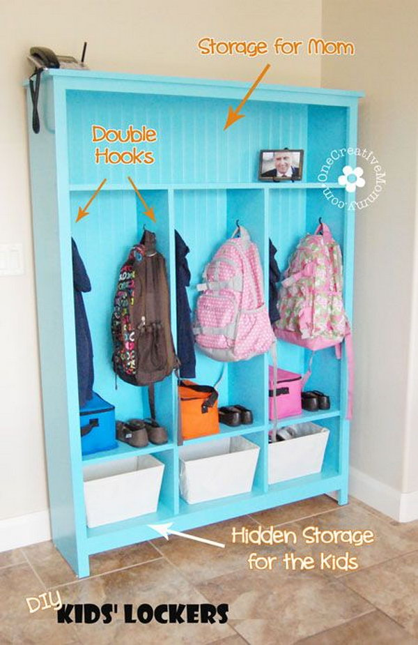 14 DIY Storage Lockers for Kids