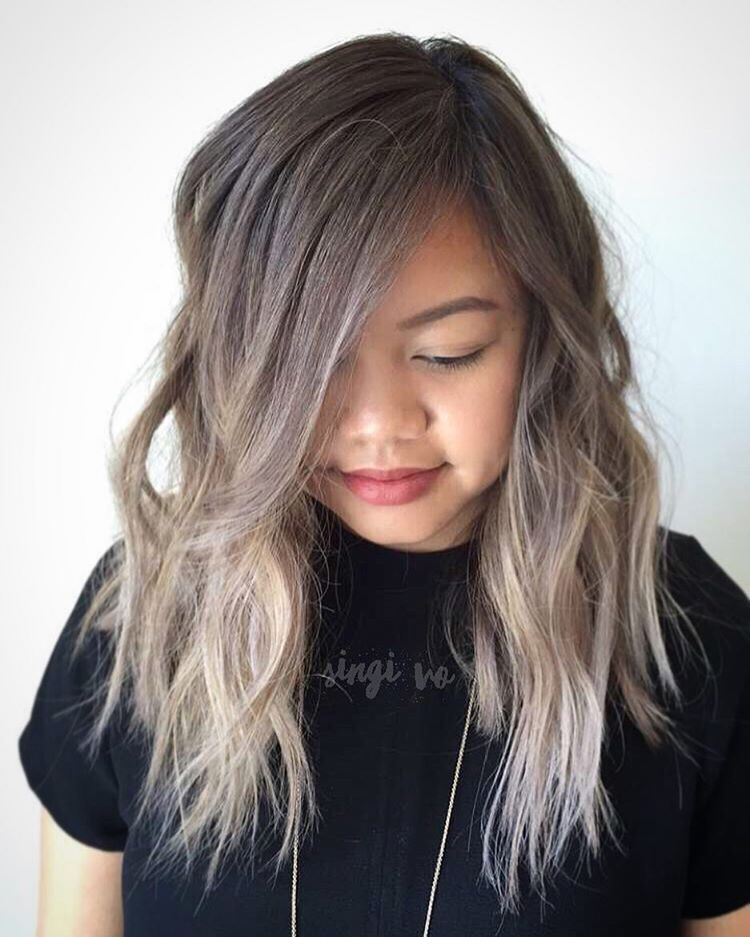 14 shaggy ash brown ombre hairstyle