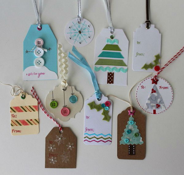 Christmas Gift Tags Ideas.35 Creative Diy Gift Tag Ideas Tutorials Page 15