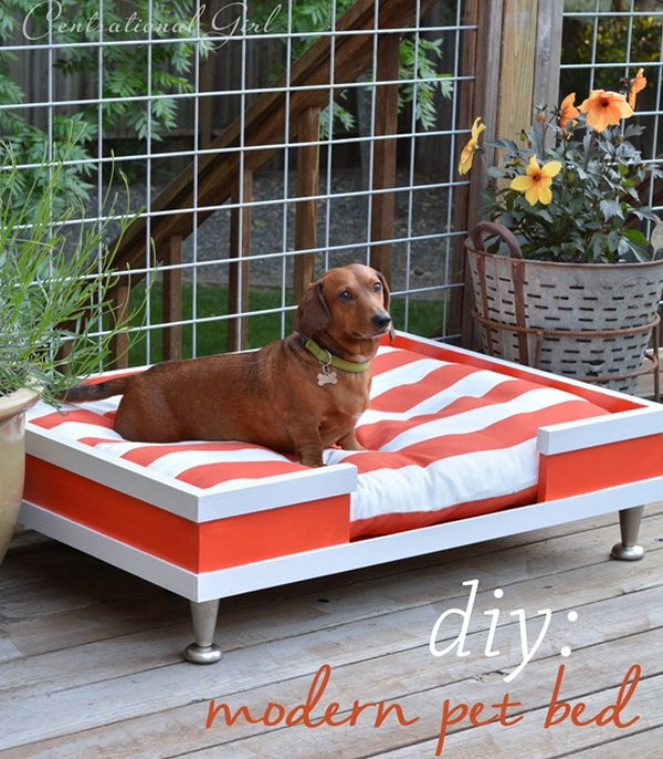 15 DIY Modern Wood Pet Bed