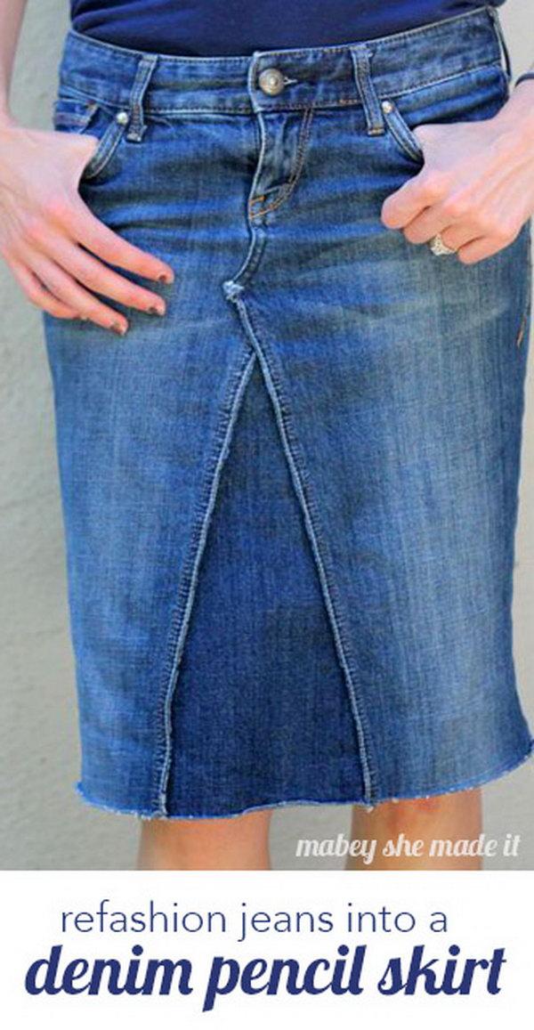 15 DIY Pants Pencil Skirt