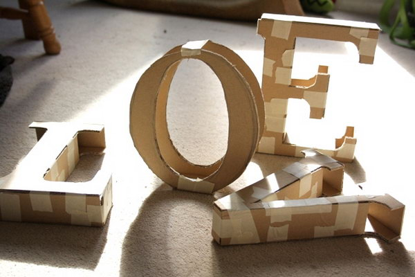 15 Decorative Cardboard Letters