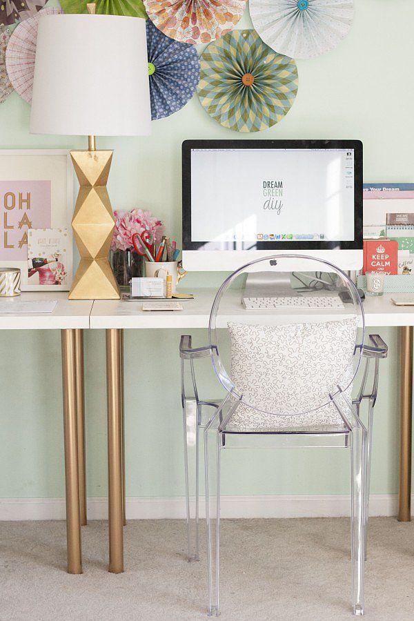 15 Leggy Gold Home Office Desk