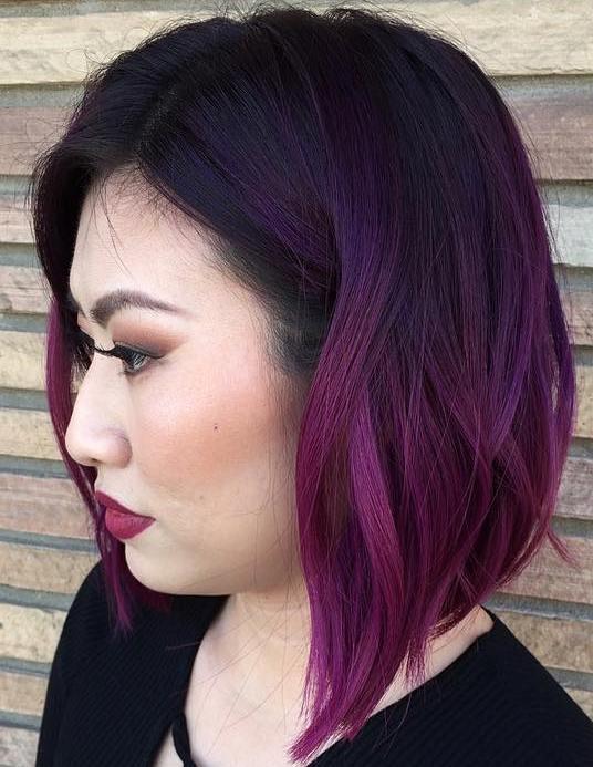 15 purple ombre bob