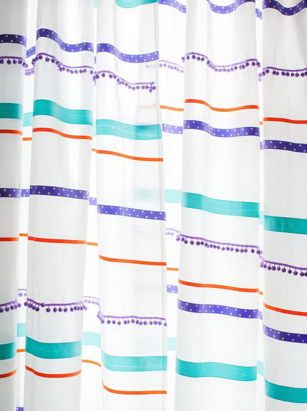 16 Customize Curtains With Ribbon Trim