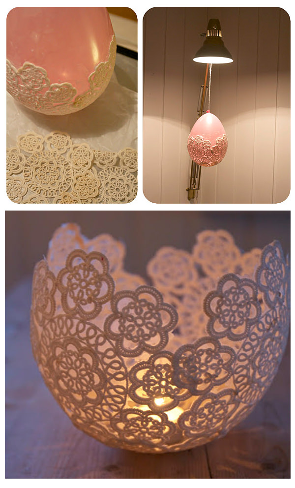 16 DIY Lace Candle Holder