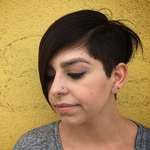 16 pixie with extra long side bangs