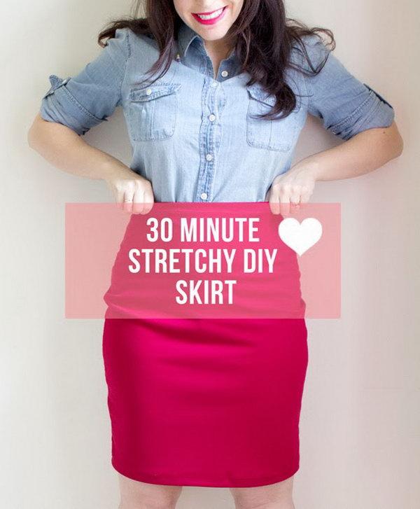 17 30 Minute Stretchy DIY Skirt