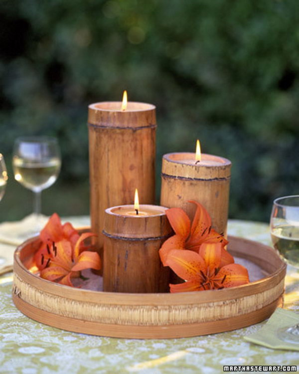 17 Bamboo Candle Holder
