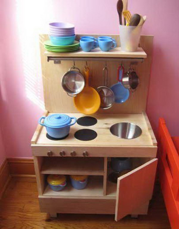 17 DIY Play Kitchen from Ikea Components