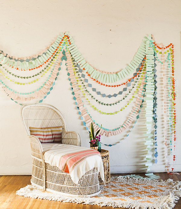 18 DIY Wall Garlands for Baby Room's Decorating