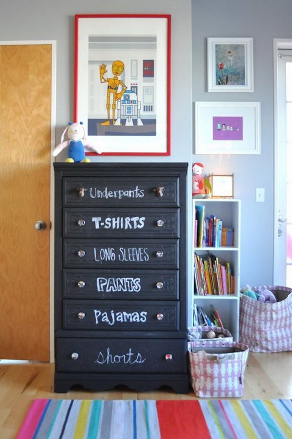 18 Label Drawers With Chalk