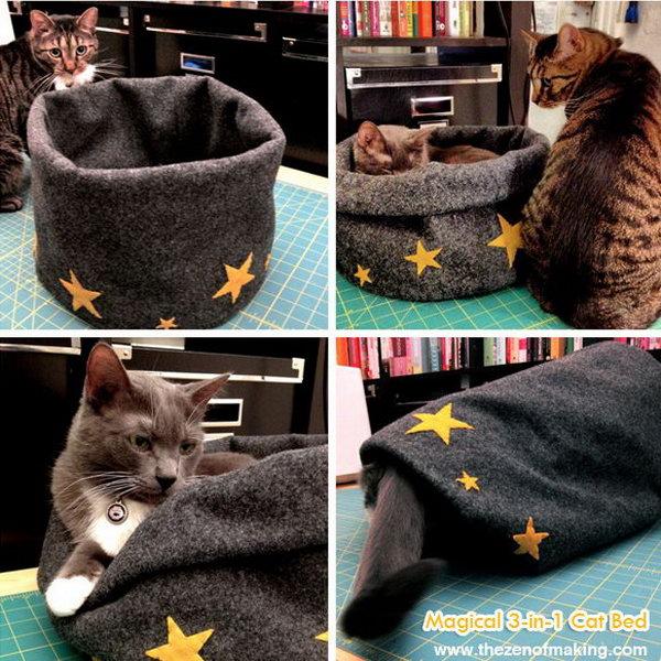 18 Magical 3-in-1 Cat Bed