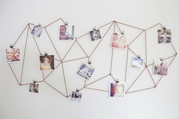 19 DIY Geometric Photo Display