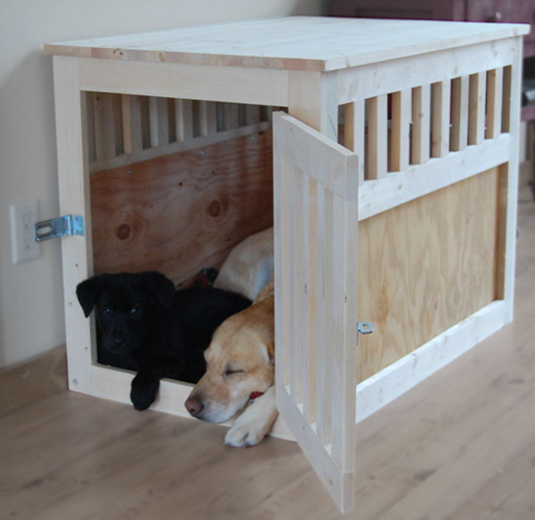 19 Large Wood Pet Kennel End Table